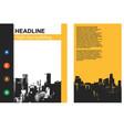 banner flyer template leaflets for presentation vector image