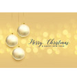 beautiful christmas ball decoration bokeh vector image vector image