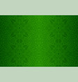 beautiful green art with linear floral pattern vector image vector image