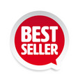 best seller label tag speech bubble vector image vector image