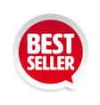 best seller label tag speech bubble vector image