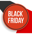 black friday banner with geometrical shapes vector image vector image