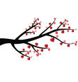 Branch With Heart vector image vector image