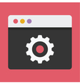 Browser Settings Icon vector image vector image