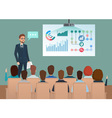 Business professional work team meeting Man speaks vector image
