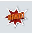 Cartoon bang vector image vector image