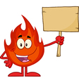Cartoon flame vector image vector image