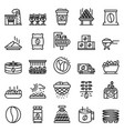 coffee production icons set outline style vector image vector image