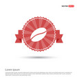 coffee seed icon - red ribbon banner vector image