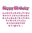 cute 3d letters of the english alphabet vector image vector image