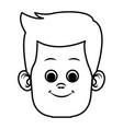 cute and funny boy cartoon vector image