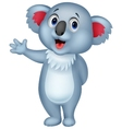 Cute koala cartoon hand waving vector image vector image