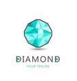 diamond jewelry logo icon isolated vector image vector image