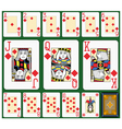 Diamonds Suite Black Jack large figures vector image vector image