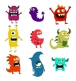 doodle monsters set colorful toy cute alien vector image vector image