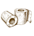 engraving toilet paper vector image vector image