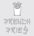 French fries1 resize vector image