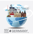 Germany Landmark Global Travel And Journey vector image