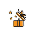 gift box icon template vector image vector image