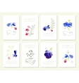 Hand drawn collection of romantic floral vector image