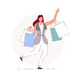 happy shopper isolated happy shopper vector image