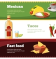 horisontal banners set with Mexican vector image vector image