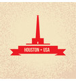 houston usa detailed silhouette vector image vector image