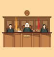 isometric people judicial system set with three vector image vector image