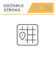 location editable stroke line icon vector image