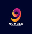 logo number gradient colorful style vector image vector image