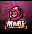 mage mascot esport logo design vector image vector image