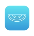 Melon line icon vector image