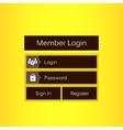 Mobile user ui kit form interface For web vector image