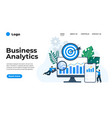 modern flat design business analytics can vector image vector image