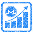 monero growth graph framed stamp vector image vector image