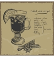 Mulled wine recipe vector image