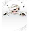 mummy behind white frame vector image vector image