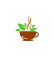 nature coffee logo icon design vector image vector image