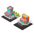 office and mall isometric buildings vector image vector image