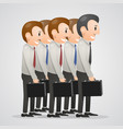 office men with suitcases vector image vector image