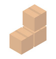 parcel stack icon isometric style vector image vector image