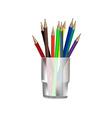 Pencils in glass vector image vector image
