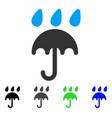 rain protection umbrella flat icon vector image