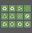 recycling labels set recycle icons and symbols vector image vector image