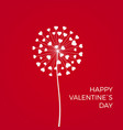 red romantic valentines background white vector image
