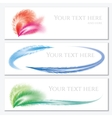 set banners with feathers vector image vector image