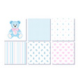 set of design elements of baby theme-seamless vector image vector image