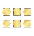 set of hand drawn luxury bright golden gradient vector image