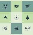 set of simple geo icons vector image vector image