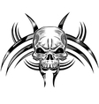skull tattoo design isolate on white vector image vector image